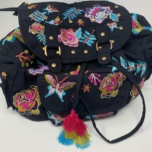 NWT. Stone Mountain embroidered Black backpack